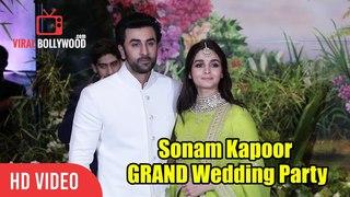 New Couple Ranbir & Alia Bhatt At Sonam Kapoor's Grand Wedding Party | Sonam - Anand Wedding Party