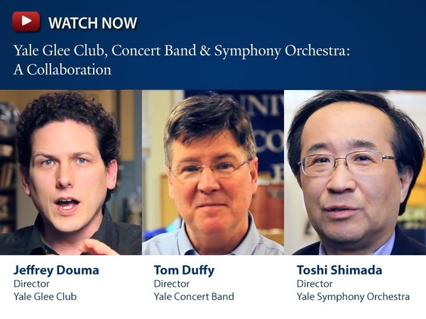 Symphony Orchestra, Concert Band, Glee Club Play well, together, at Yale