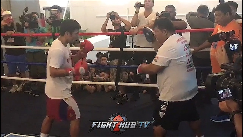 MANNY PACQUIAO SHOWING TOP FORM DAYS AWAY FROM LUCAS MATTHYSSE FIGHT