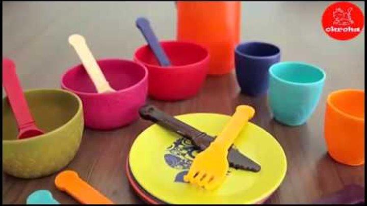 Игрушки премиум класса Okroha - Набор детской посуды от Баттат / Battat