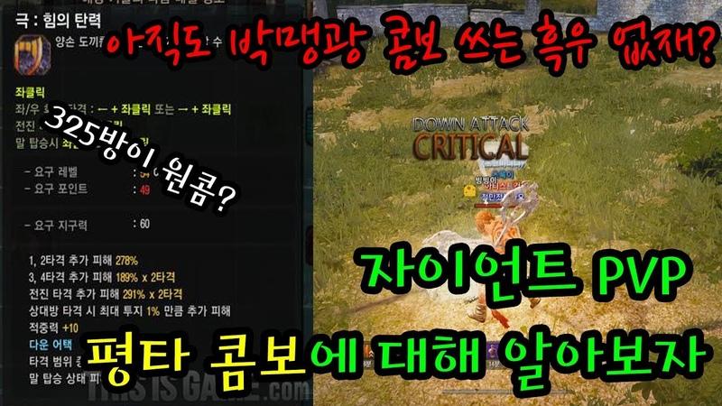Black desert zerker 검은사막 자이언트 PVP 극 평타 껍데기 벗기기 콤보