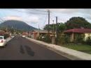 Утренняя улица на окраине La Fortuna