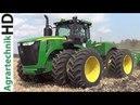 JOHN DEERE 9510R 8285R Traktoren im Einsatz Bodenbearbeitung Cultivating