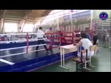 Красный угол Няшпаев Евгений- синий угол Умарзаков Рустам-хан раздел фулл-контакт до 63 кг. финал