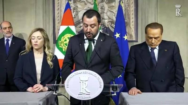 """Consultazioni""""Lega Salvini Premier"""",""""Forza Italia Berlusconi Presidente"""" e """"Fratelli d'Italia""""1"""