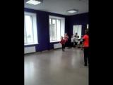 фрагмент урока по спортивно-эстрадным танцам. школа танцев