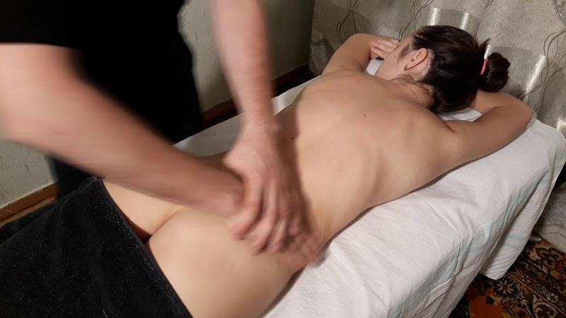 массаж спины. relax back massage.
