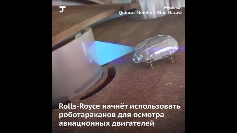 В Rolls Royce решили использовать роботараканов для проверки двигателей
