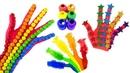 Сборник Learn colors Учим Цвета. Песенка Про Пальчики Рисуем на руке. Семья пальчиков на русском