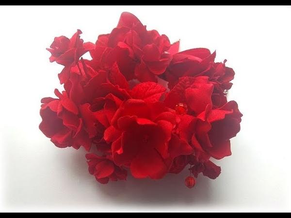 Резинка на пучок с цветами из фоамирана легко и просто