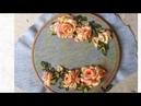 D I Y Ribbon Embroidery Rosas with acrylic Color Hướng dẫn thêu ruy băng hoa hồng tô loang màu