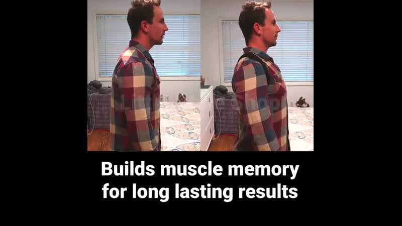 Fix SLOUCHING and POOR POSTURE naturally with this device! Good posture prevents aches and stress on neckback! - Pulls shoulders