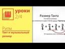 Музыкальный размер Изучаем за 15 минут Урок 2 4