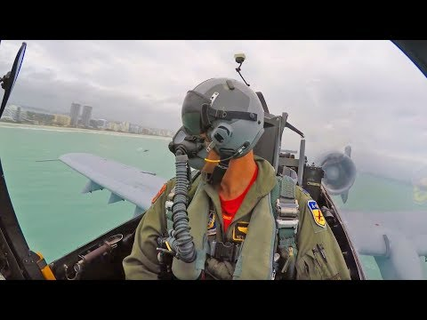 A-10 Flyby Over Miami Beach