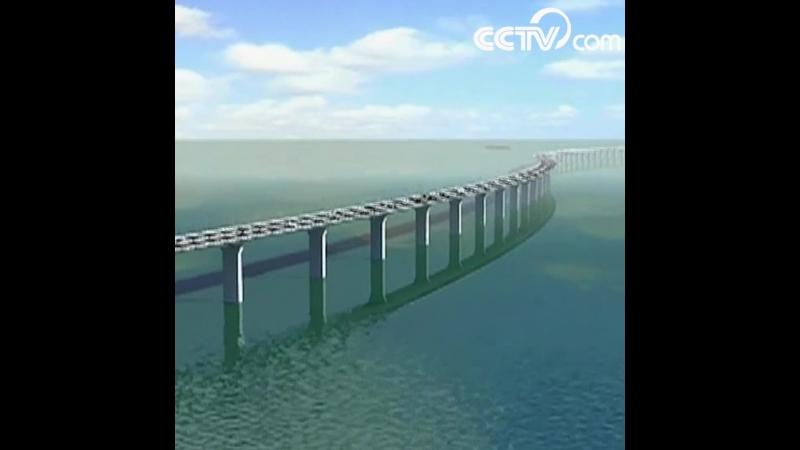 Установка основной части моста Сянган-Чжухай-Аомэнь