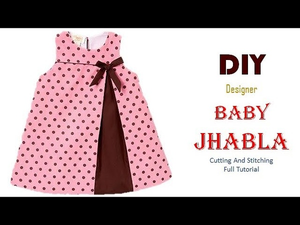 DIY simple Jhabla Frock For 6 Month baby Girl Full Tutorial