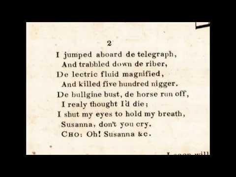 Stephen Foster's OH! SUSANNA - Original 1848 Lyrics - Tom Roush