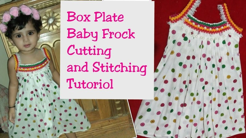 Simple And Stylish Box Plate Baby Frock Cutting and Stitching Tutoriol easy to make at home