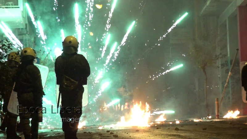 Greece Cops in flames on anniversary of teen boy Grigoropoulos police shooting