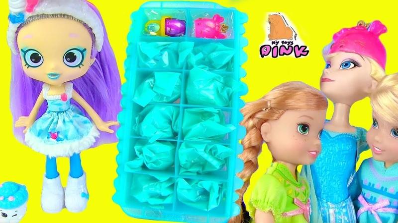 Disney Frozen Shopkins Num Noms ЛЕТНЯЯ ЛИХОРАДКА Elsa Anna Toddlers Save Queen Elsa Сюрпризы