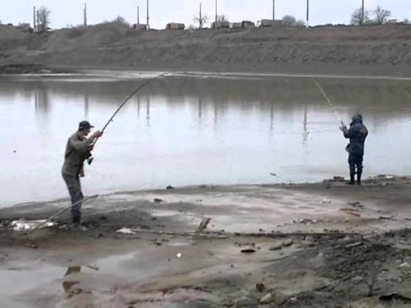 Рыбалка по чеченски грозненское море 09 03 2012