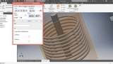 How to add u-bolt across a curved surface or helical coil in inventor for coil supports