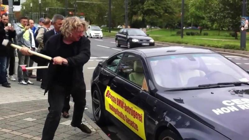 Немец разбил топором BMW M6, после того как снова купил W123 и подписался на КОНТРМАРШ =)