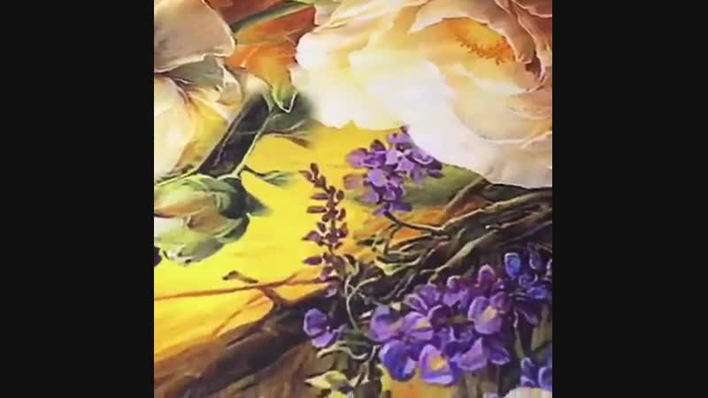 Итальянский шелковый атлас-стрейч желтый с цветами. ♥️Поставь лайк😉👍 ⭐️Ширина: 140см ⭐️Состав: Шелк 96%, эластан 4% ⭐️Цена: 6