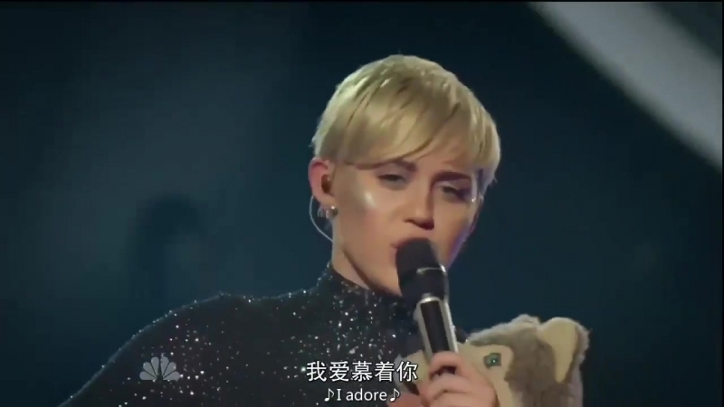Miley Cyrus Adore You live