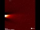 Остатки кометы C2017 S3 (PANSTARRS) в поле зрения коронографа STEREO