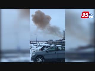 Взрыв на Череповецком литейно-механическом прогремел сегодня утром