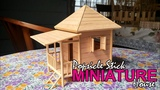 Popsicle Stick Miniature House - Beach House (Custom Made)
