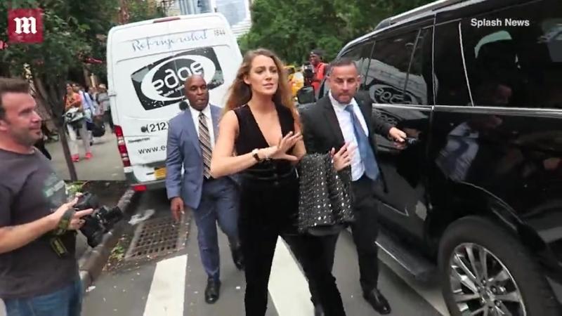 Блейк покидает свои апартаменты в отеле «Greenwich Hotel» в Нью-Йорке, США › 13 сентября 2018
