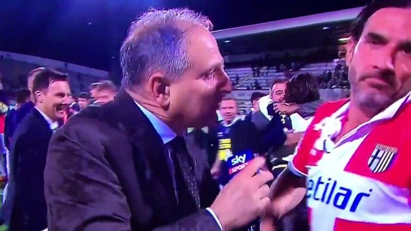 Spezia - Parma 0 - 2 - intervista al capitano Alessandro Lucarelli