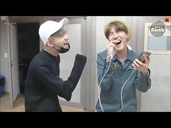 Рэпперы BTS поют Шуга и Джей хоуп