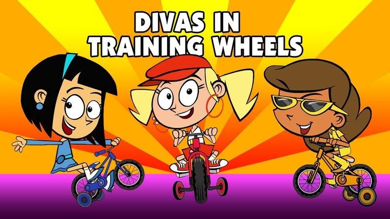 Kids Song DIVAS IN TRAINING WHEELS funny animated children's rap music video by Preschool Popstars
