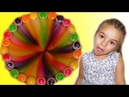 Kids science experiment with candy Skittles