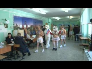 В Барнауле моржи пришли на выборы прямо из проруби