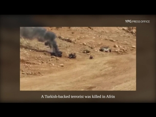 Operation against Turkish-backed Sham Corps terrorists in Jinderes, Afrin