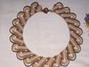 (83)Колье ВОЛНА . Плетение сеточкой.
