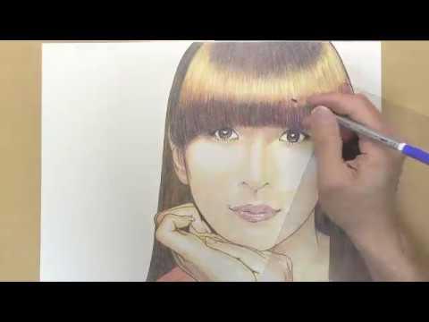 【Speed drawing】色鉛筆でPerfumeを描く【かしゆか】【樫野由香】