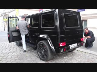 BRABUS G65 AMG WIDESTAR from Russia Revs Driving! DEVIL SOUND