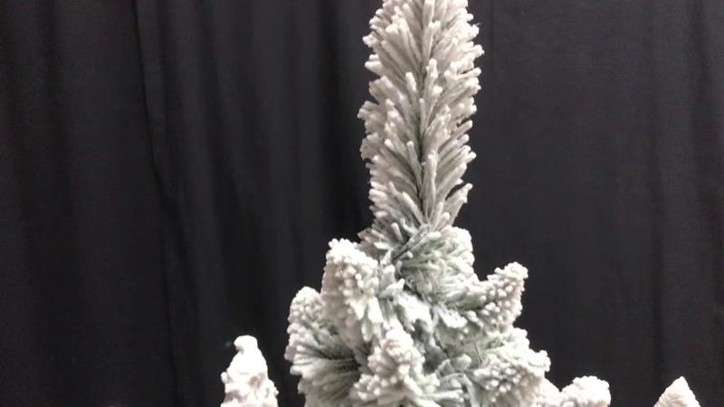 Искусственная заснеженная ёлка (белая, глиттер, ветки лодочка)