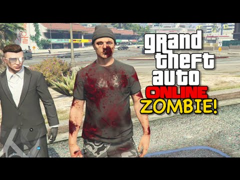 I'M A F %KING ZOMBIE GTA 5 ONLINE HILARIOUS