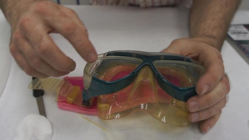 Заемена линз в маске для подводного плавания