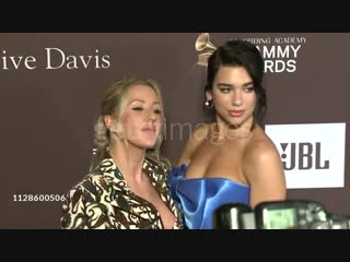 Dua Lipa and Ellie Goulding at the Clive Davis' and the Recording Academy's Pre-GRAMMY Gala