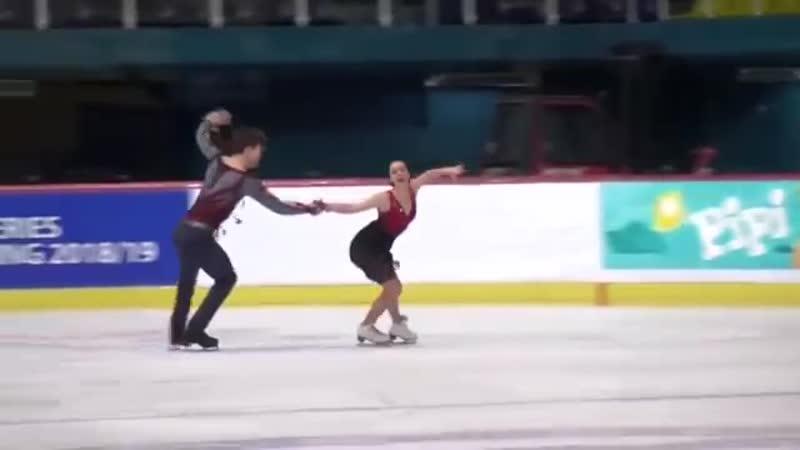 Betina POPOVA Sergey MOZGOV RUS Free Dance 2018 Golden Spin of Zagreb