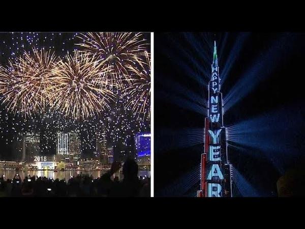 شاهد أجمل إحتفالات رأس السنة 2018 في برج خليفة 15