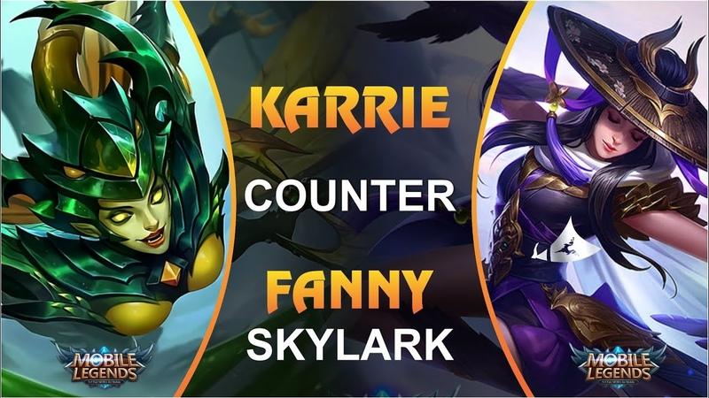 KARRIE COUNTER FANNY SKYLARK Mobile Legends GIVEAWAY SKIN