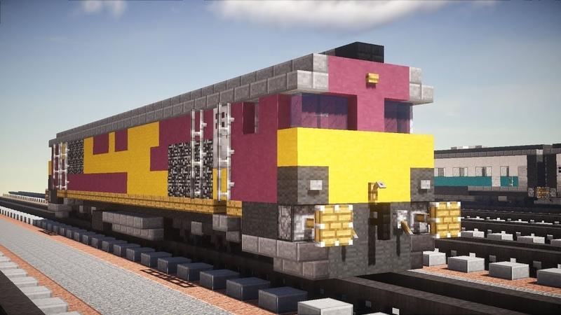 Minecraft EWS British Class 66 Diesel Locomotive Tutorial